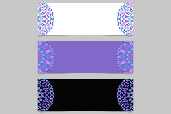 Download Free 3 Purple Mandala Banner Backgrounds Graphic By Davidzydd for Cricut Explore, Silhouette and other cutting machines.