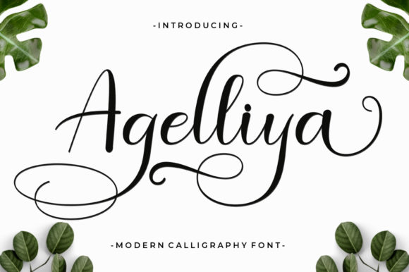 Print on Demand: Agelliya Script & Handwritten Font By Black Studio