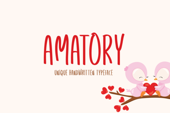 Print on Demand: Amatory Display Font By Instagram Fonts