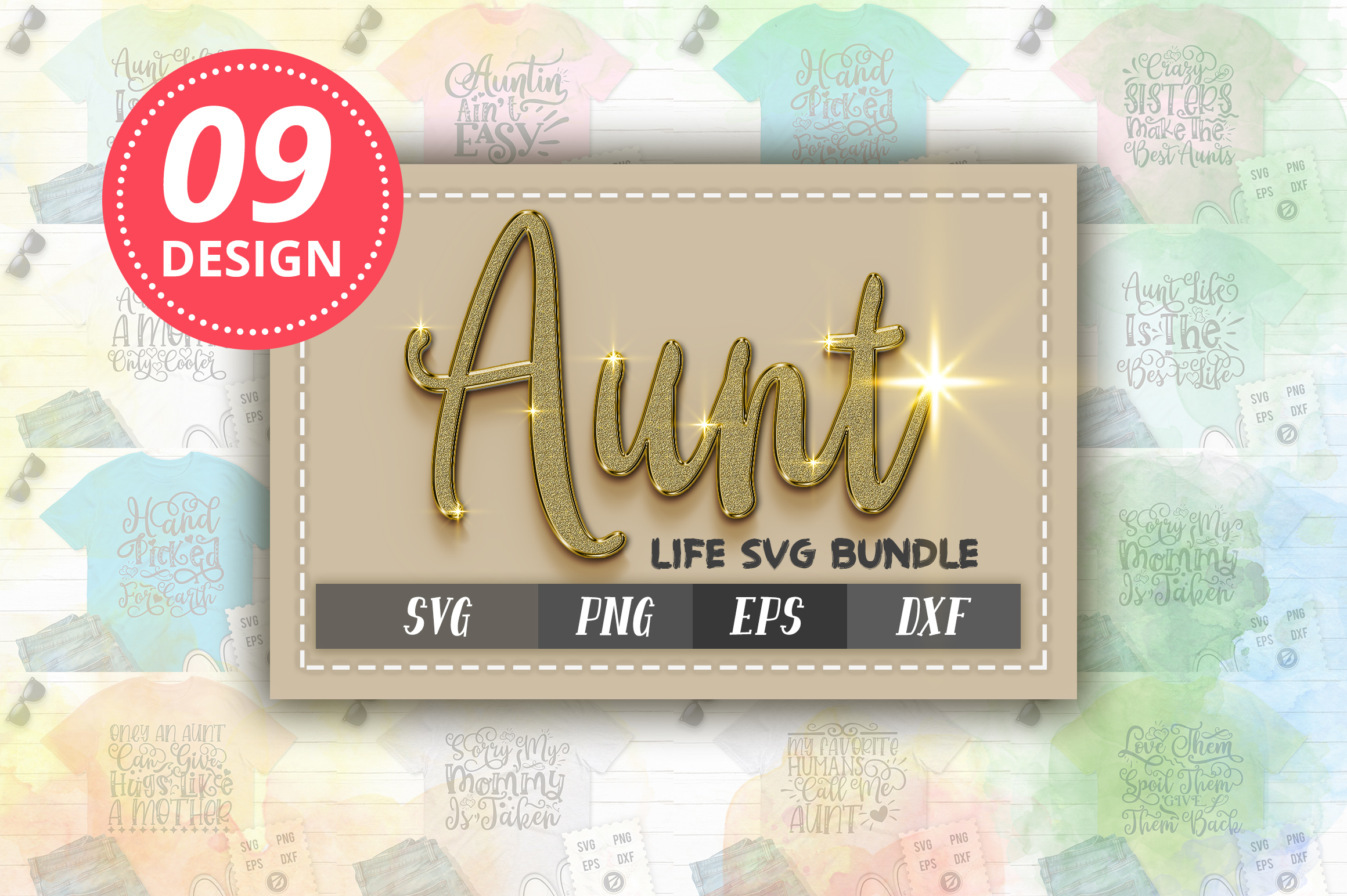 Download Free Aunt Life Bundle Vol 1 Graphic By Designfarm Creative Fabrica for Cricut Explore, Silhouette and other cutting machines.