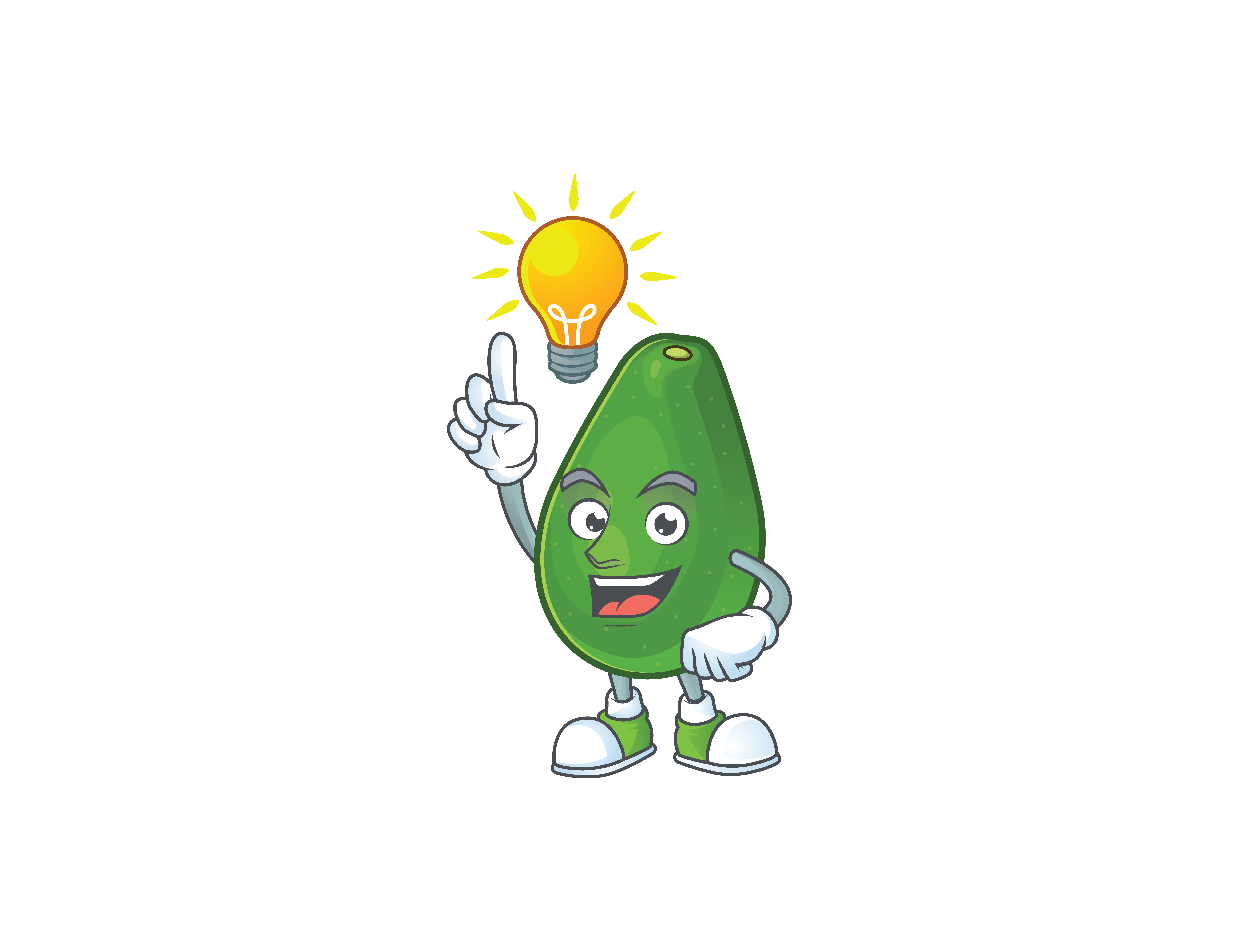 Download Free Avocado Cartoon Character Style Graphic By Kongvector2020 Creative Fabrica SVG Cut Files