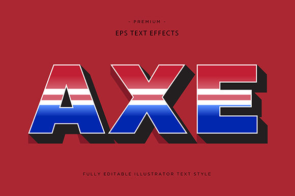 Print on Demand: Axe 3d Text Effect Vector Graphic Graphic Templates By Riduwan Molla