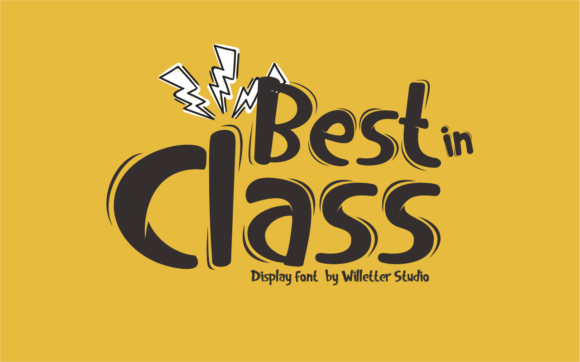 Print on Demand: Best in Class Display Font By Will Letter