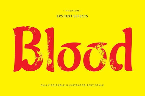 Print on Demand: Blood 3d Text Effect Vector Graphic Graphic Templates By Riduwan Molla