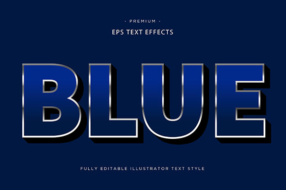 Print on Demand: Blue 3d Text Effect Vector Graphic Graphic Templates By Riduwan Molla