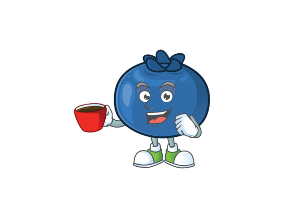 Download Free Blueberry Cartoon Character Style Graphic By Kongvector2020 for Cricut Explore, Silhouette and other cutting machines.