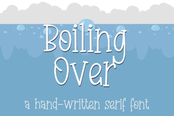 Print on Demand: Boiling Duo Script & Handwritten Font By Illustration Ink