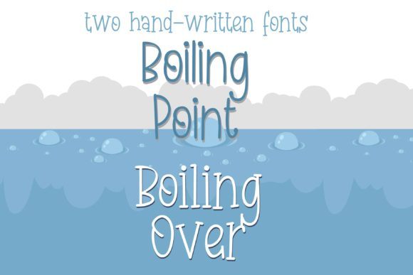 Print on Demand: Boiling Duo Script & Handwritten Font By Illustration Ink - Image 2