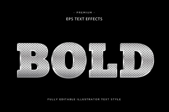Print on Demand: Bold 3d Text Effect Vector Graphic Graphic Templates By Riduwan Molla