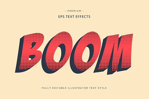 Print on Demand: Boom 3d Text Effect Vector Graphic Graphic Templates By Riduwan Molla