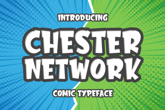 Print on Demand: Chester Network Display Font By Abodaniel - Image 1