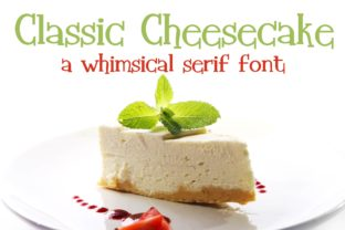 Print on Demand: Classic Cheesecake Serif Font By Illustration Ink