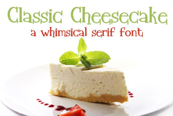 Print on Demand: Classic Cheesecake Serif Fuente Por Illustration Ink