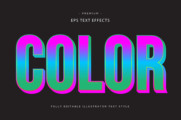 Print on Demand: Color 3d Text Effect Graphic Graphic Templates By Riduwan Molla