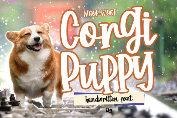 Print on Demand: Corgy Puppy Script & Handwritten Font By dmletter31