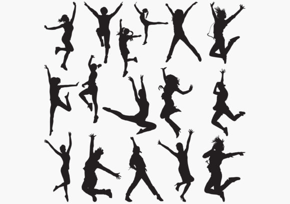 Dancing Silhouettes Graphic Crafts By octopusgraphic