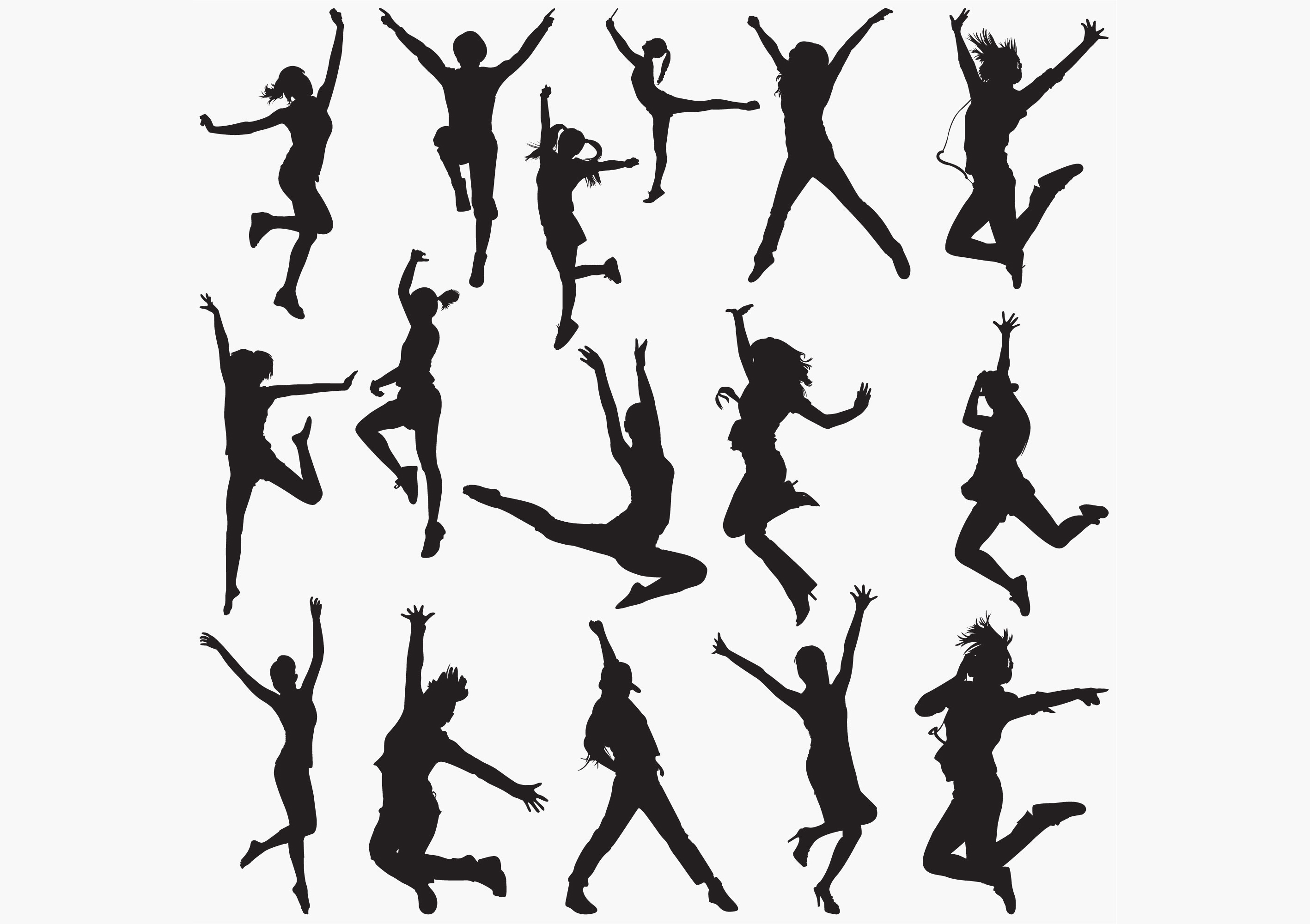 Download Free Dancing Silhouettes Graphic By Octopusgraphic Creative Fabrica for Cricut Explore, Silhouette and other cutting machines.
