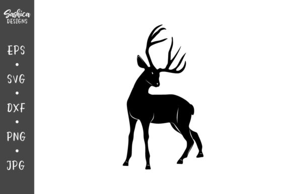 Download Free Deer Vector Graphic By Sashica Designs Creative Fabrica for Cricut Explore, Silhouette and other cutting machines.