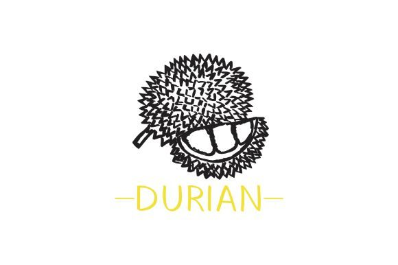 Download Free Detail Hand Drawn Durian Vector Art Graphic By Firdausm601 for Cricut Explore, Silhouette and other cutting machines.
