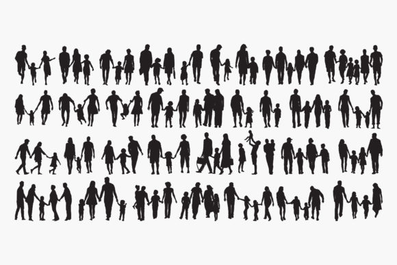 Family Silhouettes Graphic Crafts By octopusgraphic