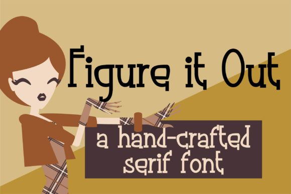 Print on Demand: Figure It out Serif Font By Illustration Ink