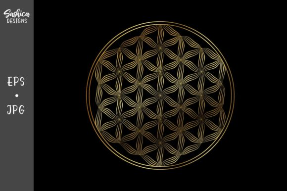 Download Free Flower Of Life Vector Icon Graphic By Sashica Designs Creative for Cricut Explore, Silhouette and other cutting machines.