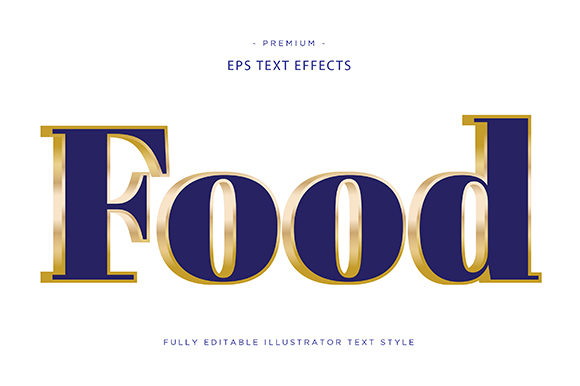 Print on Demand: Food 3d Text Effect Vector Graphic Graphic Templates By Riduwan Molla