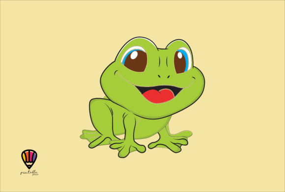 Frog Graphic Illustrations By printablesplazza
