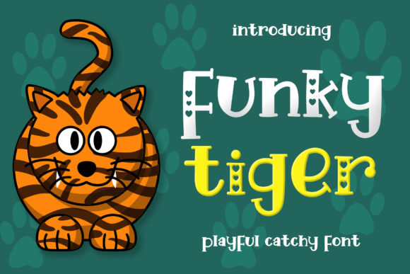 Print on Demand: Funky Tiger Display Font By airotype - Image 1