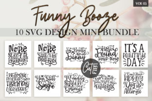 Download Free Funny Booze Svg Bundle Vol 3 Graphic By Designfarm Creative for Cricut Explore, Silhouette and other cutting machines.