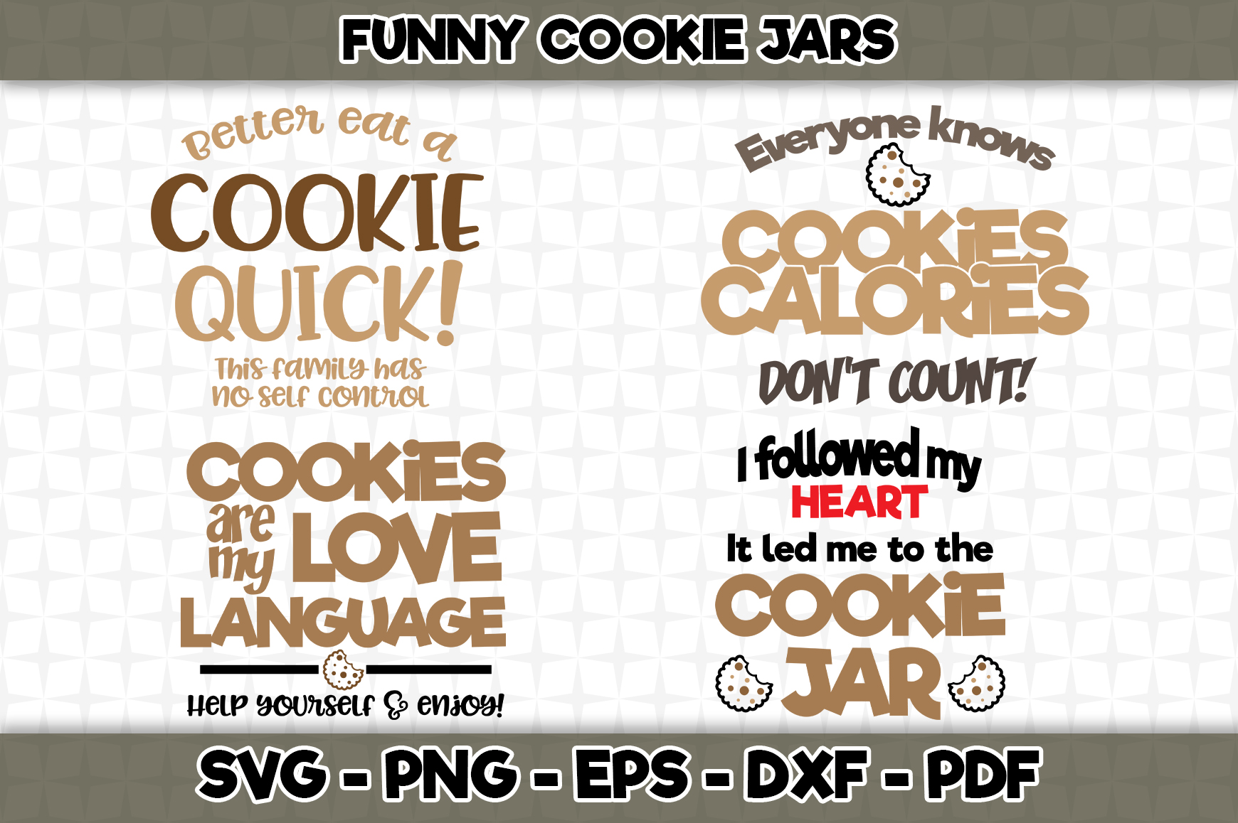 Download Free Funny Cookie Jars Bundle Graphic By Svgexpress Creative Fabrica for Cricut Explore, Silhouette and other cutting machines.