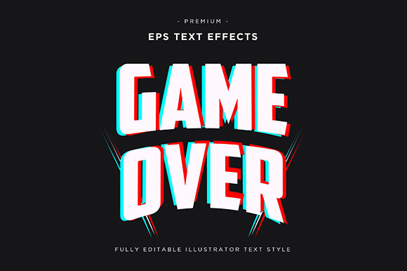 Download Free Game Over 3d Text Effect Vector Graphic By Riduwan Molla SVG Cut Files