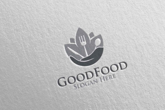 Download Free Good Food Logo For Restaurant Or Cafe 52 Graphic By Denayunecf for Cricut Explore, Silhouette and other cutting machines.