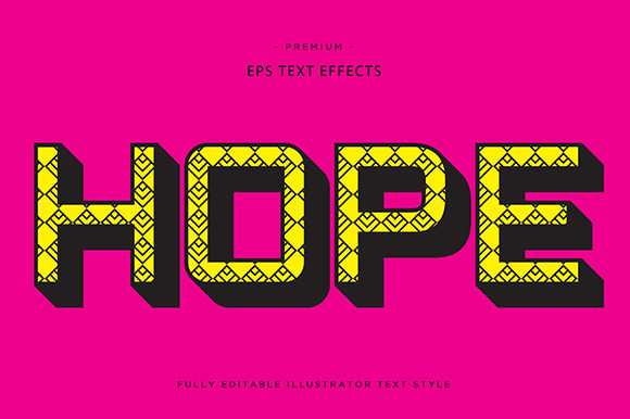 Print on Demand: Hope 3d Text Effect Graphic Graphic Templates By Riduwan Molla