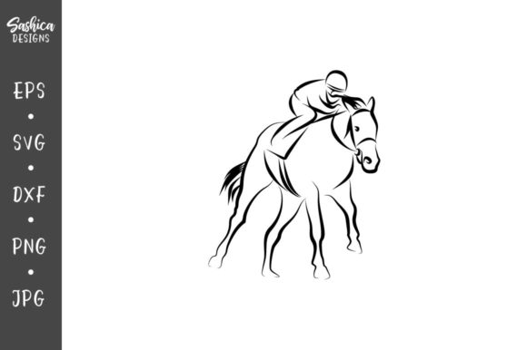 Download Free Horse Racing Vector Svg Graphic By Sashica Designs Creative for Cricut Explore, Silhouette and other cutting machines.