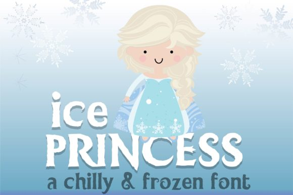 Print on Demand: Ice Princess Duo Display Schriftarten von Illustration Ink