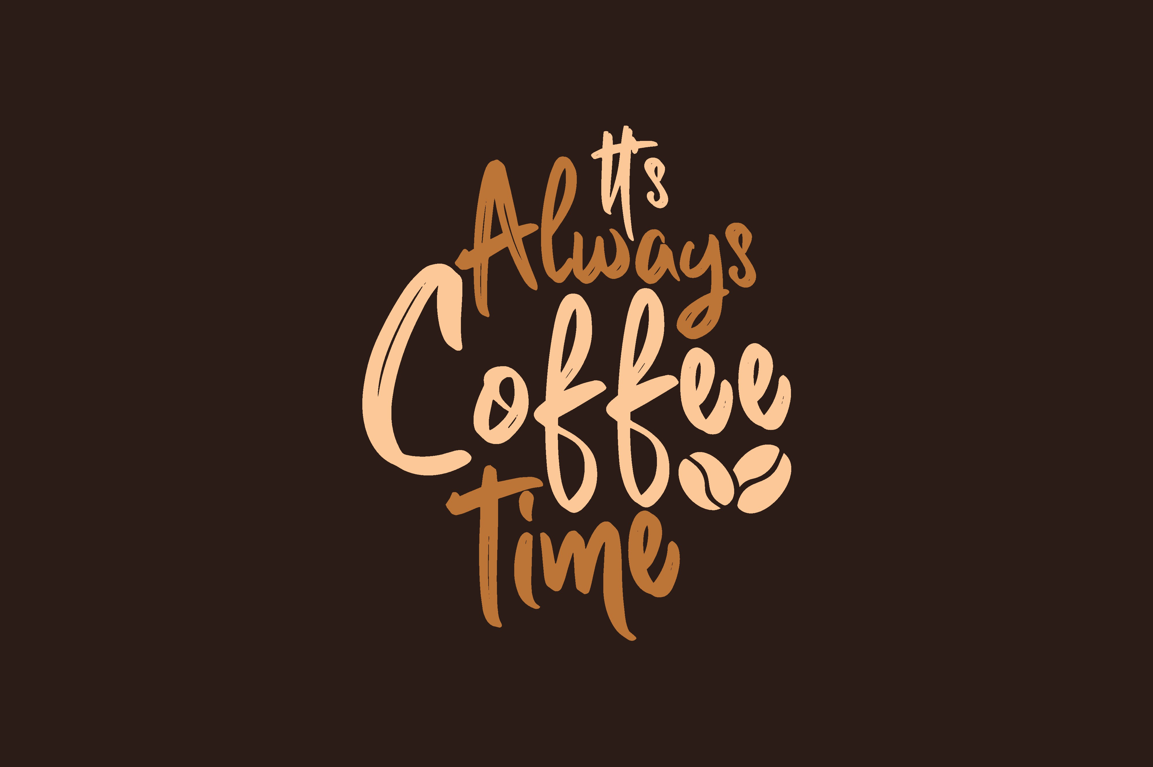 Download Free It Is Always Coffee Time Graphic By Chairul Ma Arif Creative for Cricut Explore, Silhouette and other cutting machines.