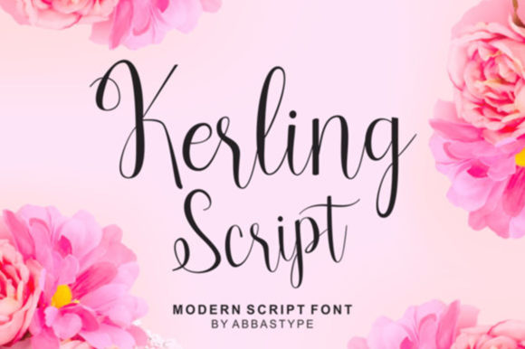 Print on Demand: Kerling Script Script & Handwritten Font By Bot Kerling