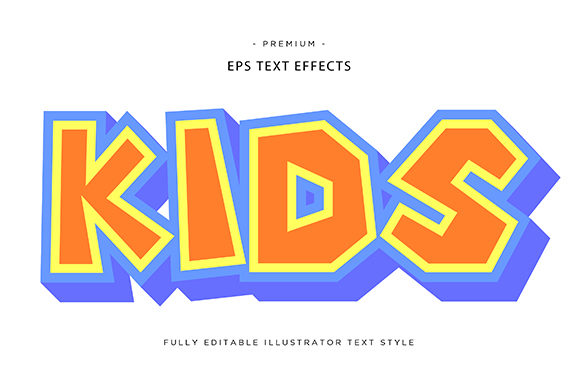 Print on Demand: Kids 3d Text Effect Graphic Graphic Templates By Riduwan Molla
