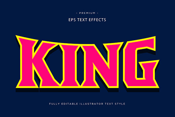 Print on Demand: King 3d Text Effect Graphic Graphic Templates By Riduwan Molla