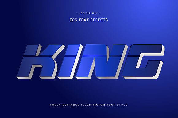 Print on Demand: King 3d Text Effect Vector Graphic Graphic Templates By Riduwan Molla