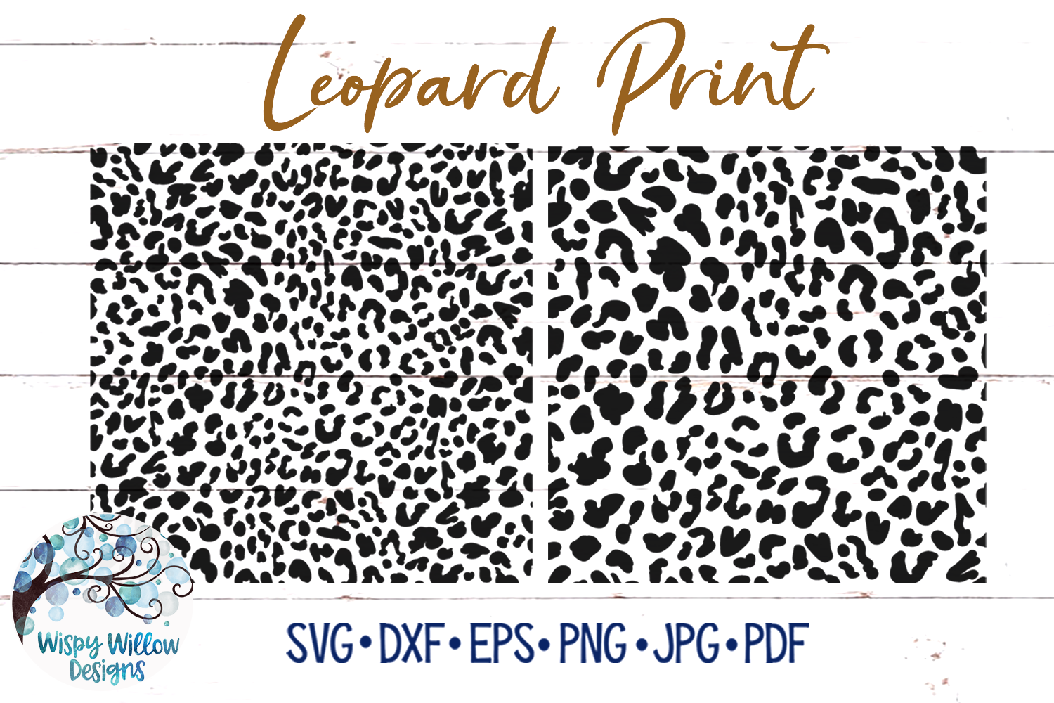 Download Free Leopard Print Bundle Graphic By Wispywillowdesigns Creative for Cricut Explore, Silhouette and other cutting machines.