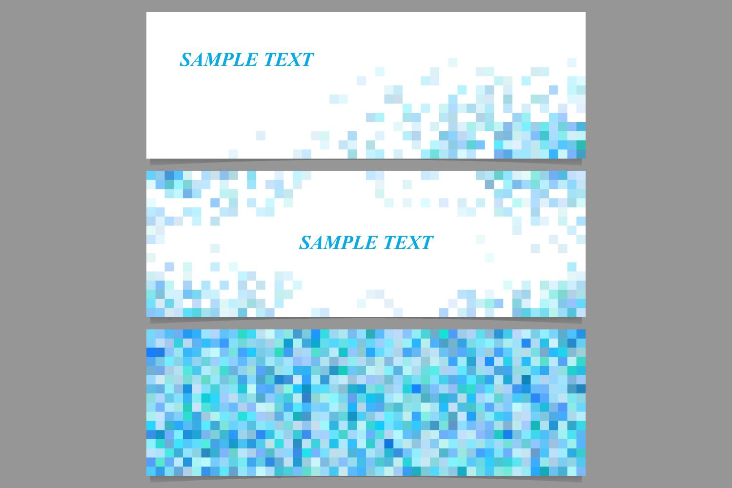 Download Free Light Blue Mosaic Banner Backgrounds Graphic By Davidzydd for Cricut Explore, Silhouette and other cutting machines.