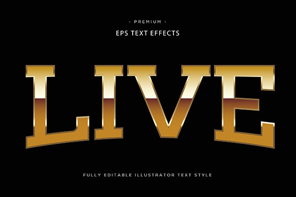 Print on Demand: Live 3d Text Effect Graphic Graphic Templates By Riduwan Molla