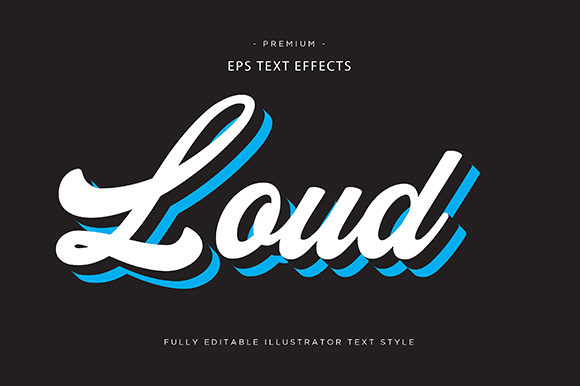 Print on Demand: Loud 3d Text Effect Graphic Graphic Templates By Riduwan Molla
