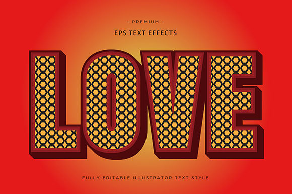 Print on Demand: Love 3d Text Effect Vector Graphic Graphic Templates By Riduwan Molla