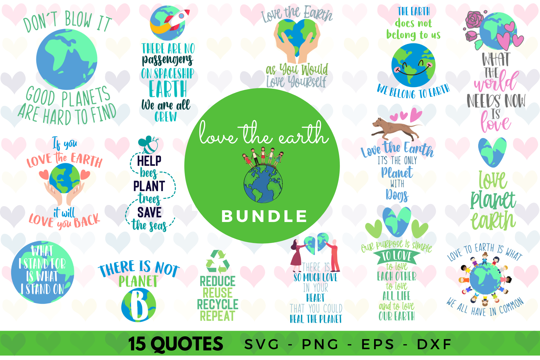 Download Free Love The Earth Graphic By Graphipedia Creative Fabrica for Cricut Explore, Silhouette and other cutting machines.