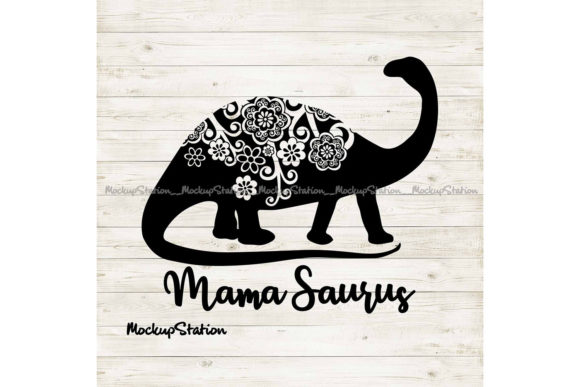 Print on Demand: Mama Saurus Mandala Graphic Crafts By Mockup Station