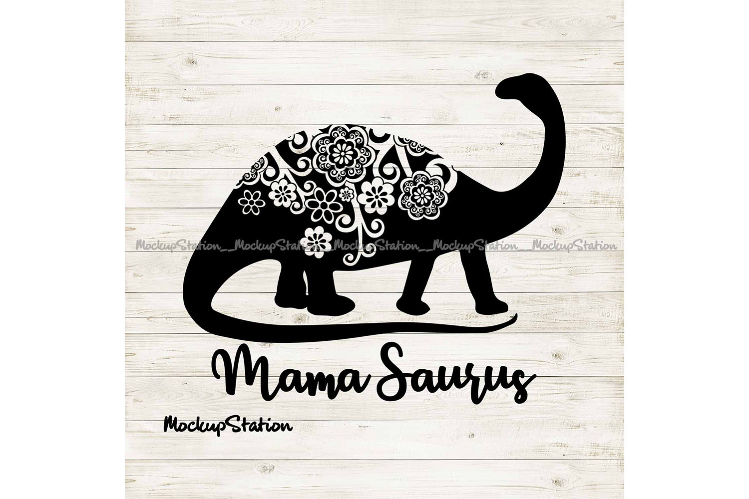 Download Free Mama Saurus Mandala Graphic By Mockup Station Creative Fabrica for Cricut Explore, Silhouette and other cutting machines.