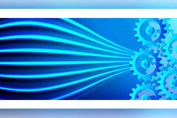 Print on Demand: Mechanism System Cogwheels. Abstract Tec Graphic Backgrounds By ojosujono96